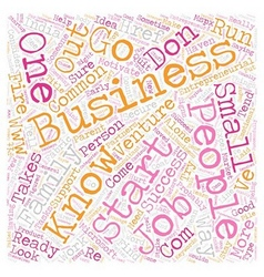 Signs of an entrepreneur text background wordcloud vector
