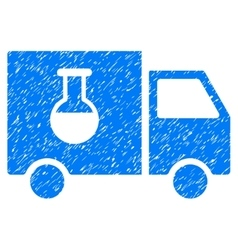 Chemical delivery truck grainy texture icon vector