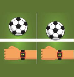Goal line sport vector