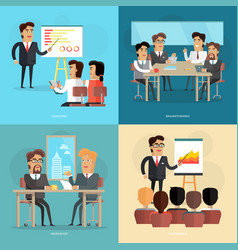 Business meeting and presentation poster vector