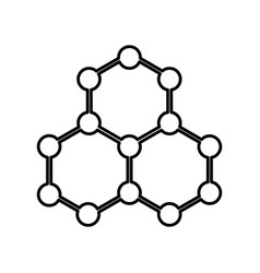 Molecular structure isolated icon vector