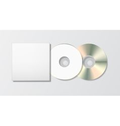 Blank disk and case template vector image
