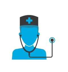 Doctors blue icon vector