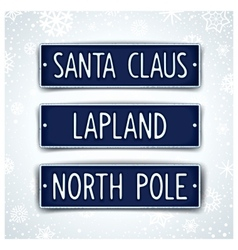 Themed car sign for santa vector