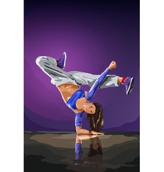 Young woman dancer vector