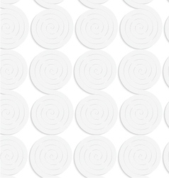 Paper white solid merging spirals vector
