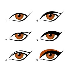 Eyeliners set winged eyeliner is a whole lot vector