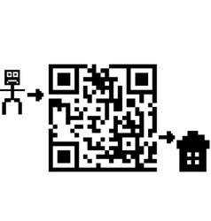 qr labyrinth vector image