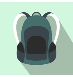 Touristic backpack flat icon vector