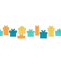 Banners with thin line icons of gift boxes vector