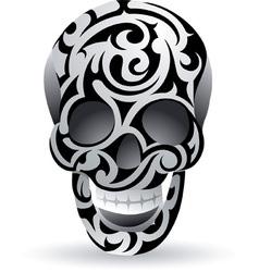 Swirl skull vector image