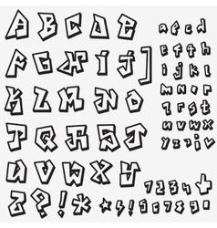 Graffiti font design element vector
