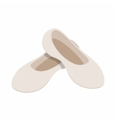 White ballet shoes icon isometric 3d style vector