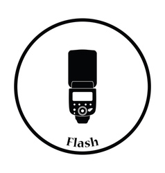 Icon of portable photo flash vector