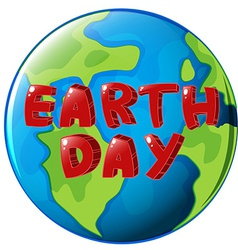 A globe with earth day label vector