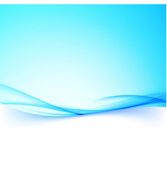 abstract business blue swoosh wave border folder vector image vector image