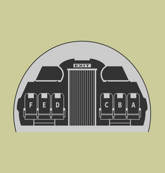 Airplane cabin vector