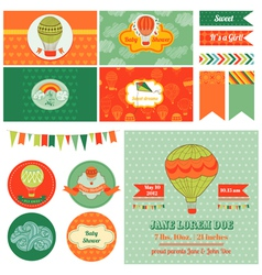 Baby shower airballoon theme vector