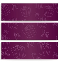 banners with gifts vector image