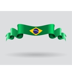Brazilian wavy flag vector