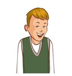 Cartoon smiling boy image eps10 vector image