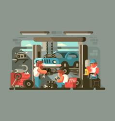garage auto service vector image vector image