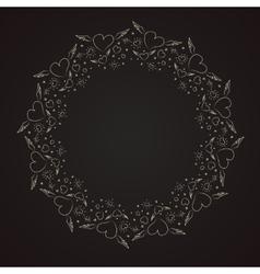 Heart border frame vector image vector image