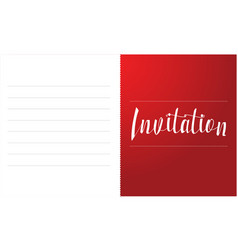 Invitation card style collection art vector