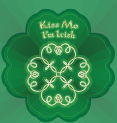 kiss me Im Irish vector image vector image