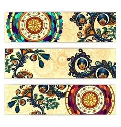 Paisley ethnic batik backgrounds vector