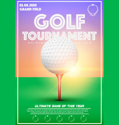 Poster template of golf tournament vector