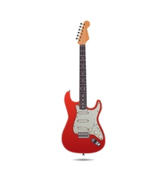 Red Electro Guitar vector image