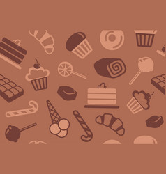 seamless background of sweets vector image vector image