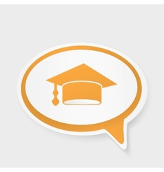 Speech bubble with hat graduate vector