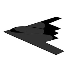 Stealth bomber icon icon cartoon vector