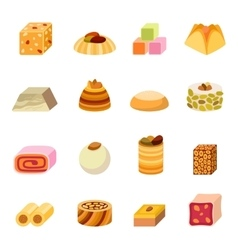 Sweets dessert isolated food vector image vector image