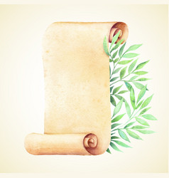 Watercolor old paper vector