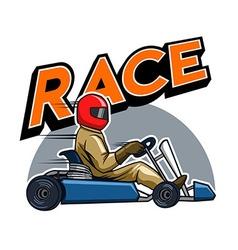 Gokart Racer vector image