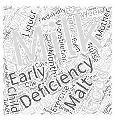 Deficiency of milk word cloud concept vector