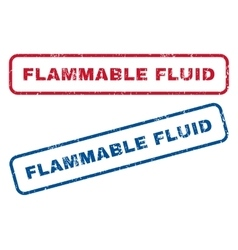 Flammable fluid rubber stamps vector