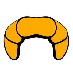 Croissant icon cartoon vector