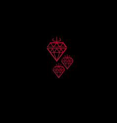 Geometry diamond design element vector