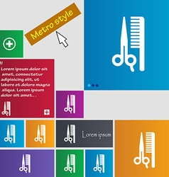 Hair icon sign buttons modern interface website vector