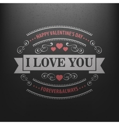 Typography postcard happy valentine day on a vector