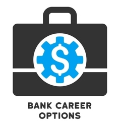Bank career options icon with caption vector