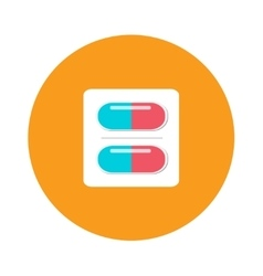 Blister packs pills icon medical drugs cartoon vector