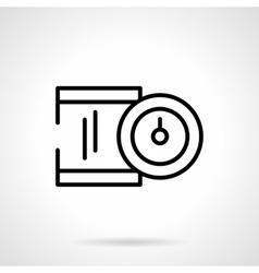 Precision device black line icon vector
