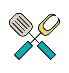 Line cutlery design vector