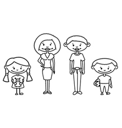 African-American Family vector image