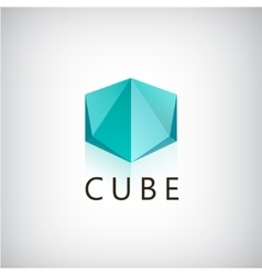 abstract cube geometric 3d logo icon vector image vector image